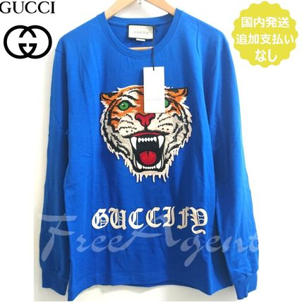 "GUCCI Tシャツ・カットソー 国内発送 タイガー&""Guccify"" ロンT GUCCI(グッチ)日本未入荷"