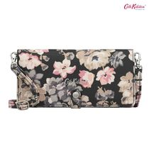 Cath Kidston★PHONE PURSE WOODSTOCK FLOWERS CHARCOAL
