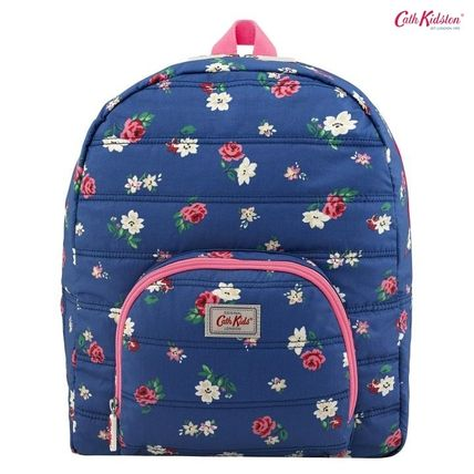 Cath Kidston 子供用リュック・バックパック Cath Kidston★KIDS QUILTED LARGE RUCKSACK W/CHEST STRAP