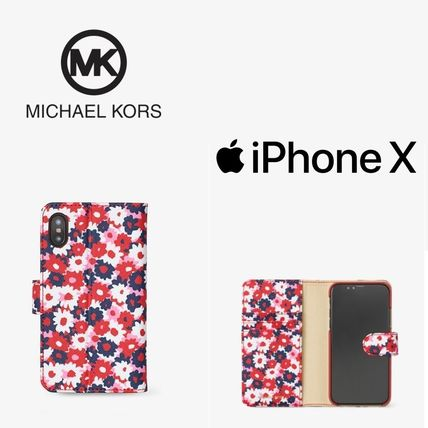 【関税込み!】MICHAEL KORS Carnation Folio Case 【iPhone X】
