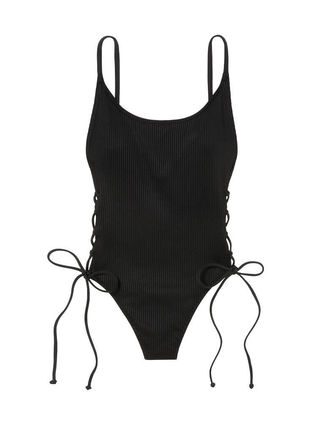 Victoria's Secret ワンピース水着 PINK新作!スタイルUP♡RIBBED LACE-UP ONE-PIECE(7)