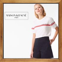 ★MAISON KITSUNE《 FLOWER STRIPES TEE-SHIRT 》送料込み★