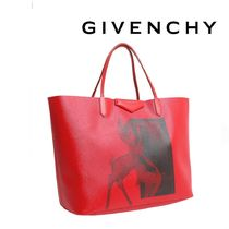 GIVENCHY ジバンシィ マザーズバッグ レッド バンビプリント 革