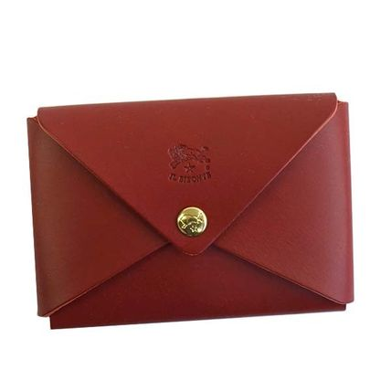 IL BISONTE カードケース・名刺入れ イルビゾンテ C0854 カードケース  RED 134 ROSA