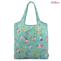 Cath Kidston★FOLDAWAY SHOPPING BAG CATS PEPPERMINT