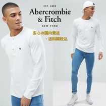 Abarcromie&Fitch☆Henley Contrast Placket Long Sleeve Top♪