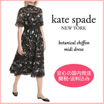 【国内発送】BOTANICAL CHIFFON MIDI DRESS セール