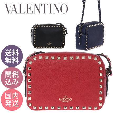 VALENTINO★人気!ロックスタッド クロスボディー バッグ 送関込