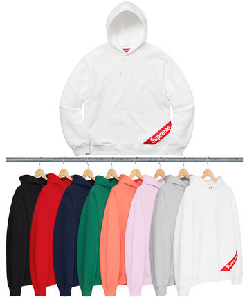 Week1新作!SUPREME18SS★CORNER LABEL HOODED SWEATSHIRT