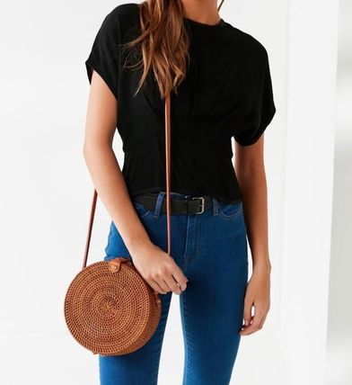 Urban Outfitters Circle Straw Bag 丸形 カゴバッグ