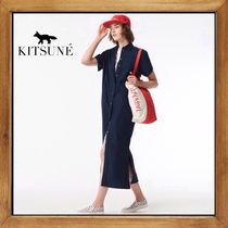 ★MAISON KITSUNE《POPLIN ISABELLA LONG SHIRT DRESS》送料込★