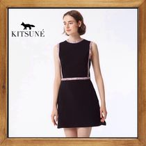 ★MAISON KITSUNE  《 FLOWER STRIPED DRESS  》送料込み★