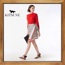 ★MAISON KITSUNE 《ALL OVER PALMETTO ANDREA WRAP  SKIRT》★
