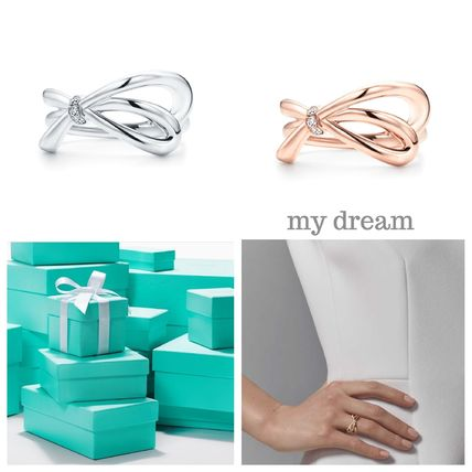 【Tiffany & Co】Tiffany Bow Ring in 18k Gold with Diamonds