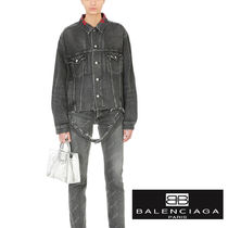追跡ありで安心☆BALENCIAGA DENIM JACKET WITH CUT-OUT HEM