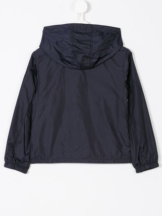 MONCLER キッズアウター 関税・送料込 MONCLER NEW URVILLE フード付 袖ロゴ ジャンパー(6)