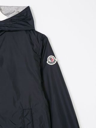 MONCLER キッズアウター 関税・送料込 MONCLER NEW URVILLE フード付 袖ロゴ ジャンパー(7)