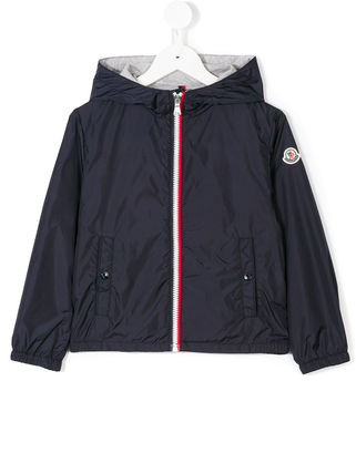 MONCLER キッズアウター 関税・送料込 MONCLER NEW URVILLE フード付 袖ロゴ ジャンパー(8)