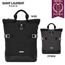 【正規品保証】SAINT LAURENT★18春夏★RIVINGTON BACKPACK_BLK