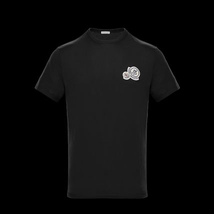 MONCLER Tシャツ・カットソー Moncler★2018SS新作★胸ワッペン★襟元リブ編みTシャツ★2色(2)