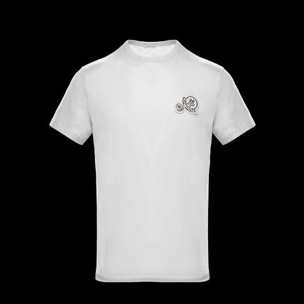 MONCLER Tシャツ・カットソー Moncler★2018SS新作★胸ワッペン★襟元リブ編みTシャツ★2色(5)