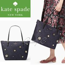 kate spade*SALE*ハンドバック*2way*embellished denim maya
