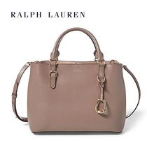 【Ralph Lauren】Saffiano Leather Satchel