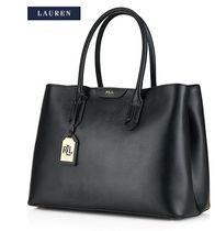 【Ralph Lauren】Leather Tate City Tote