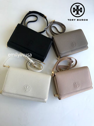 Tory Burch ショルダーバッグ・ポシェット 新作SALE TORY BURCH★BOMBE FLAT WALLET CROSSBODY 46177