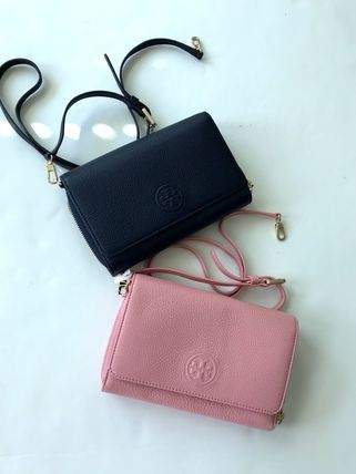 Tory Burch ショルダーバッグ・ポシェット 新作SALE TORY BURCH★BOMBE FLAT WALLET CROSSBODY 46177(9)