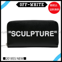 18New■Off-White■SCULPTURE ジップ長財布Black☆関税込