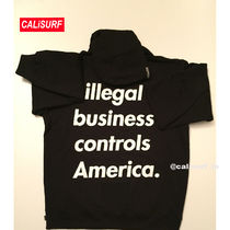 新作★SS18 Supreme Illegal Businessフーディー/M-XL BLACK