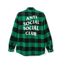 最短2日!! ANTI SOCIAL SOCIAL CLUB Frog FLANNEL グリーン