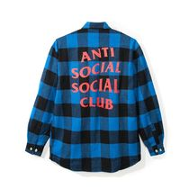 最短2日!! ANTI SOCIAL SOCIAL CLUB Montreal FLANNEL ブルー