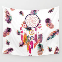 Society6◆タペストリー◆Hipster Watercolor Dreamcatcher Fea