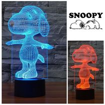 Snoopy☆3D Lamp Night Light Touch Table Desk Lamps☆税送込