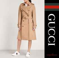 【国内発送】GUCCI トレンチ Cat-embroidered  trench coat