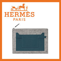 HERMES Toodoo 29 pouch クラッチバッグ♪ フェルト×レザー