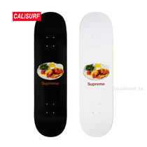 新作★SS18 Supreme chicken dinner Skateboard/white