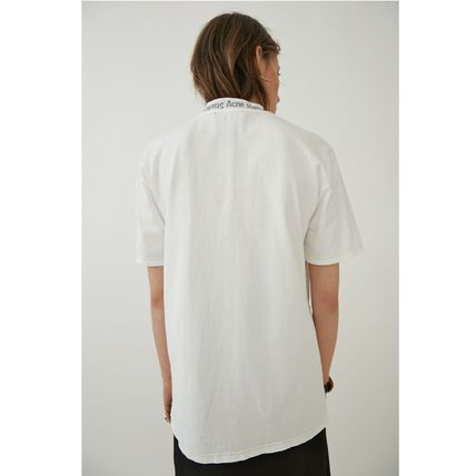 Acne Tシャツ・カットソー [Acne] Gojina dyed T-shirt ロゴ入ボーイフィットTシャツ 2色(3)