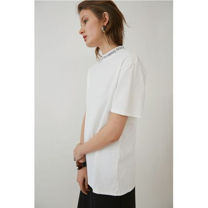 Acne Tシャツ・カットソー [Acne] Gojina dyed T-shirt ロゴ入ボーイフィットTシャツ 2色(4)