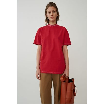 Acne Tシャツ・カットソー [Acne] Gojina dyed T-shirt ロゴ入ボーイフィットTシャツ 2色(6)