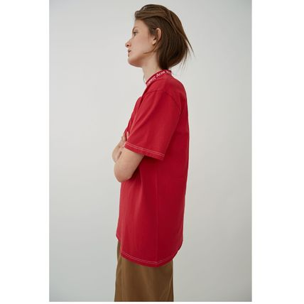 Acne Tシャツ・カットソー [Acne] Gojina dyed T-shirt ロゴ入ボーイフィットTシャツ 2色(8)