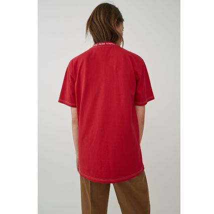 Acne Tシャツ・カットソー [Acne] Gojina dyed T-shirt ロゴ入ボーイフィットTシャツ 2色(9)