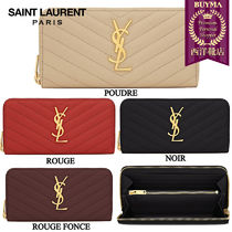 【正規品保証】SAINT LAURENT★18春夏★MONOG ZIP AROUND WALLET