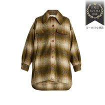 半額以下SALE▼Single-breasted checked mohair-blendコート