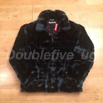 Supreme Faux Fur Repeater Bomber Jacket M Dark Teal 青 レア