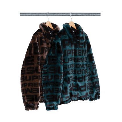 2018SS Supreme Faux Fur Repeater Bomber Jacket シュプリーム