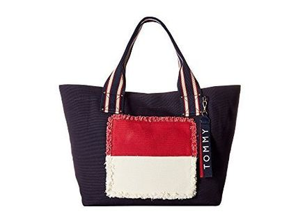 Tommy Hilfiger Classic Tommy Fray Flag Canvas Tote