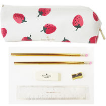 即納Kate spadeNY strawberries pencil case鉛筆,消しゴム定規付
